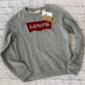 Levis women's long sleeve sweater logo pullover XS